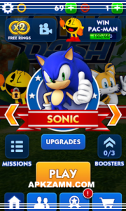 Sonic Dash MOD Apk For Android Free Download (Unlimited Money) 2